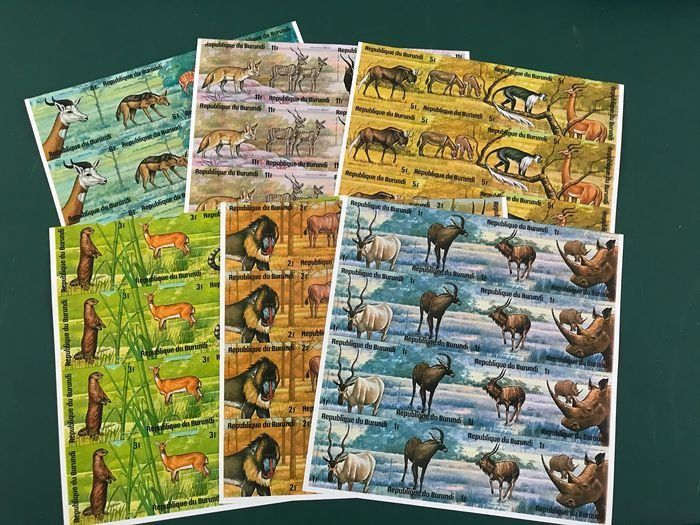 Burundi 1975 - African animals in an imperforate block of four - OBP / COB 672/695