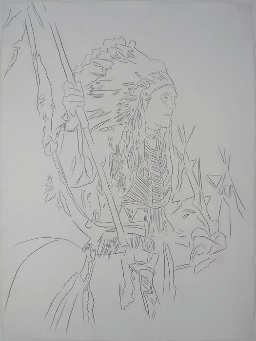 Andy Warhol (1928-1987)  - Cowboys and Indians : War Bonnet Indian
