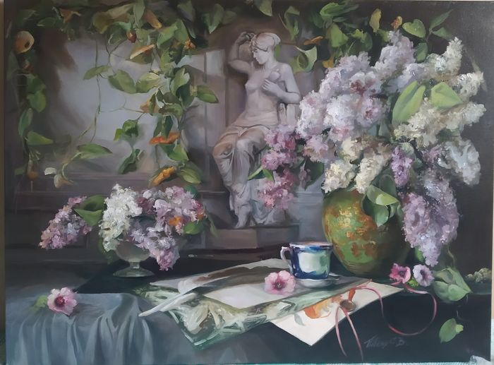 Serge PIven - Still life with lilac (60 x 80 cm)