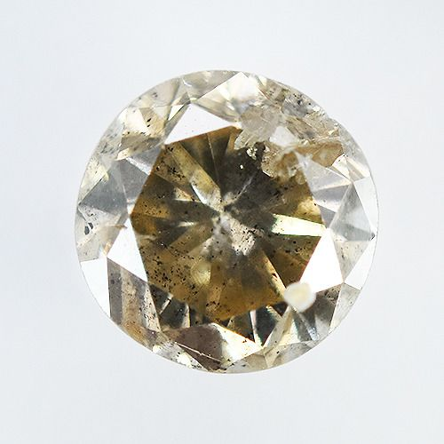 Diamante - 0.61 ct - Brillante, Rotondo - fancy light yellowish brown - I2, No Reserve Price