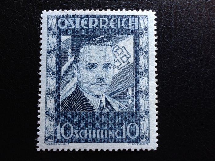 Österreich 1934 - DOLLFUSS 10 shillings intact gum - Unificato