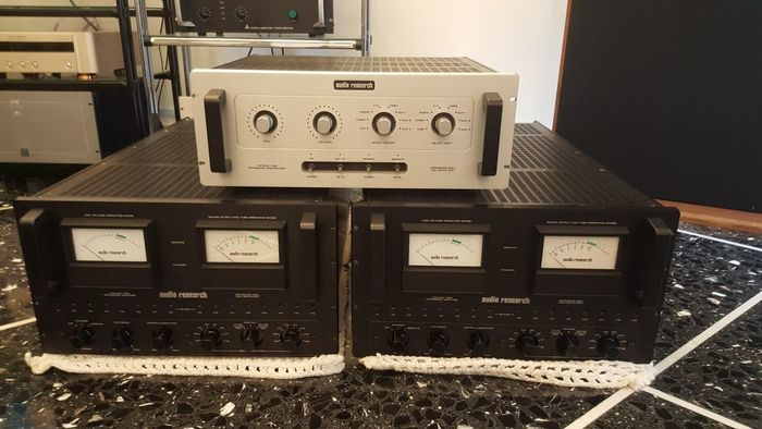 Audio Research - Reference one & 2 units  Reference 600 - Amplificatore a Valvole, Reference Tube Pre amplifier - Reference Mono Block Tube Power Amplifier