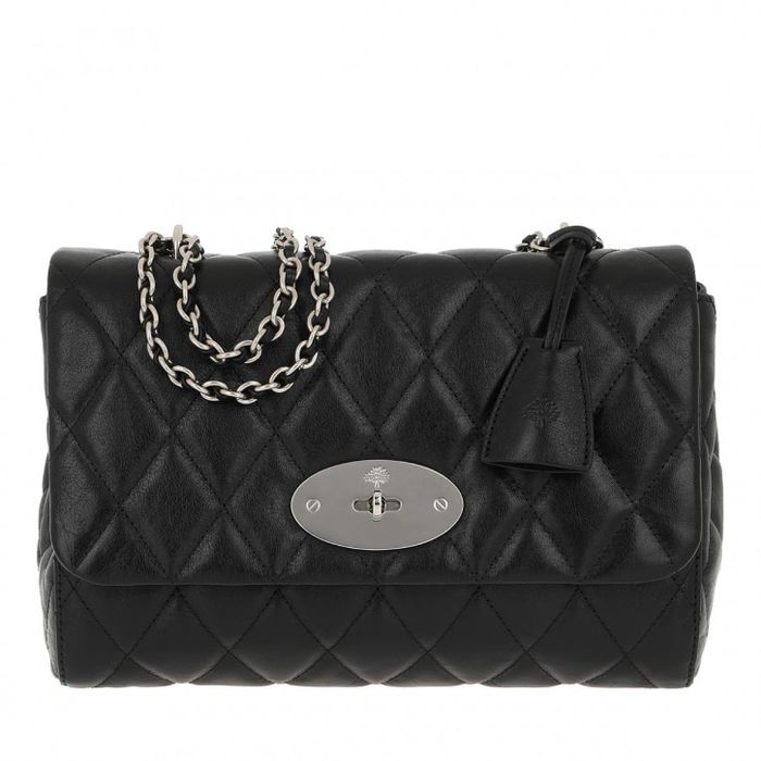 Mulberry - New Medium Lily Quilted Buffalo zwart  Shoulder bag