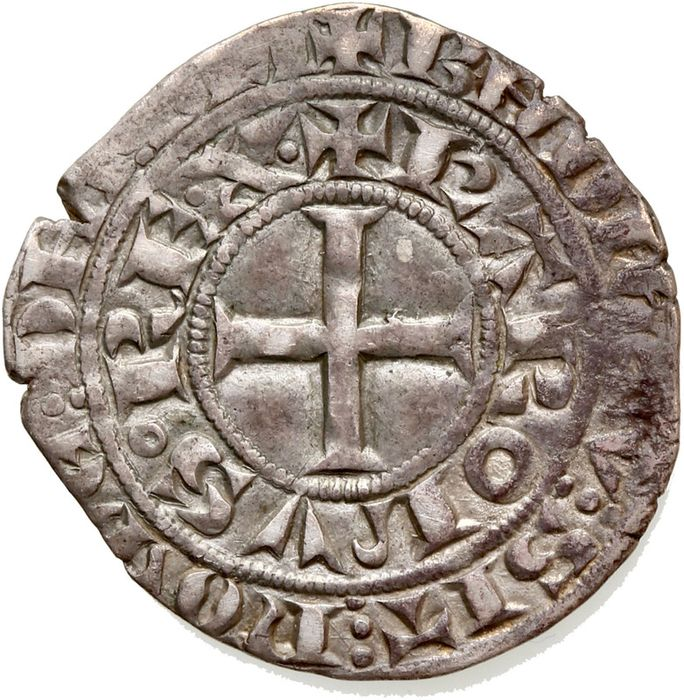 Francia - Charles IV (1322-1328) - Maille blanche - Argento
