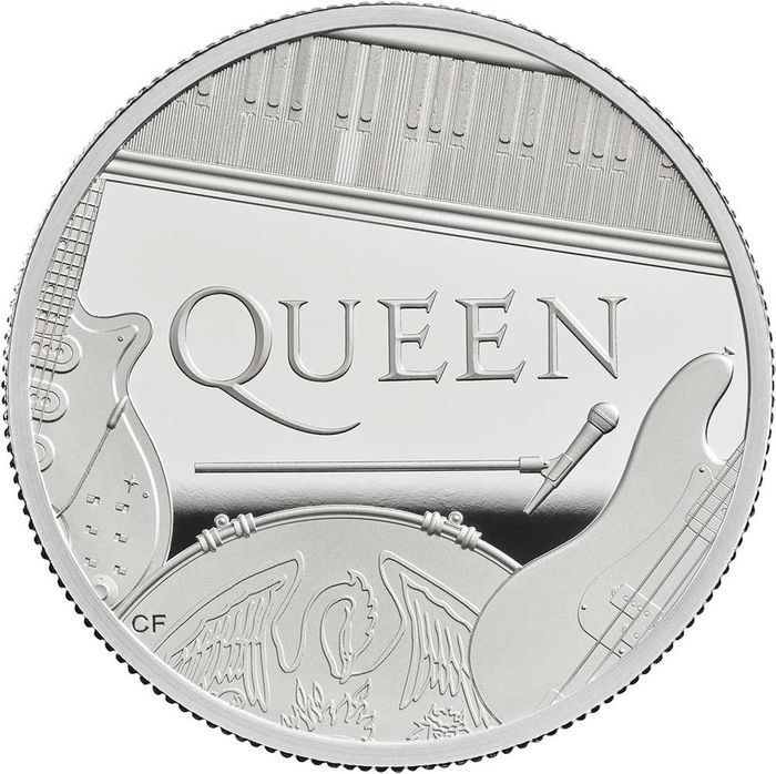 "United Kingdom - 10 Pound  - 2020 - ""QUEEN "" - Music Legends - 5 Oz - Silver"