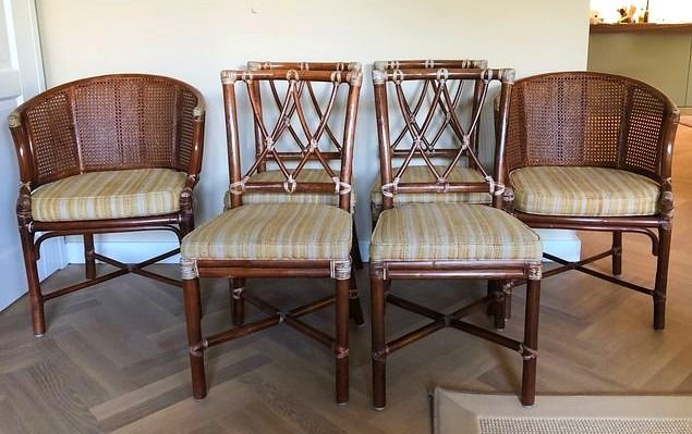 Two armchairs and four chairs