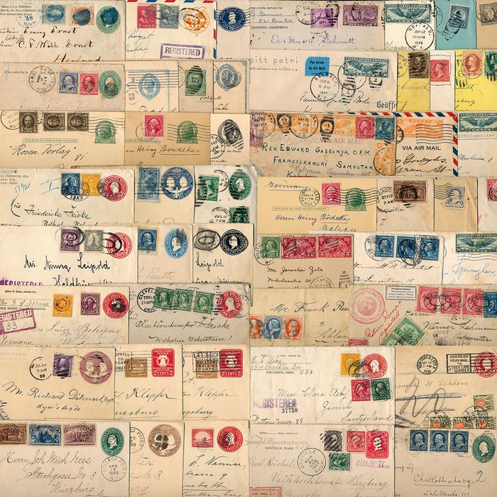 Verenigde Staten - Lot with 53 documents (registered letters, censorship post, airmail, postal stationery) - Michel