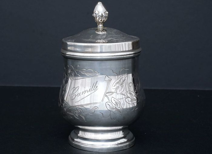 Tea caddy - .950 silver - Alfred Feau (active 1875-1913) - France - ca.1900