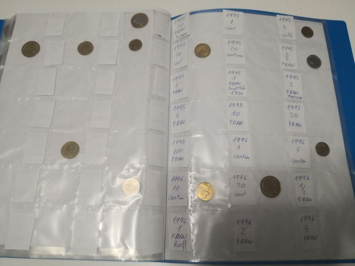 France, Italy - Collection various coins 1921/2000 (367 pieces) in albums