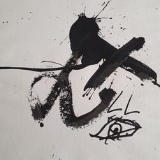 Antoni Tàpies - Abstract composition