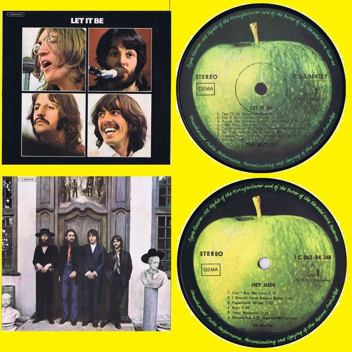 The Beatles - 1. Let It Be  2. Hey Jude  - Multiple titles - LP - 1970/1970