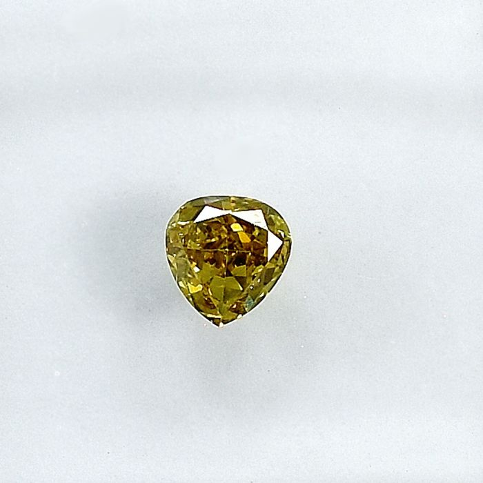 Diamant - 0.24 ct - Birne - Natural Fancy Greenish Brownish Yellow - Si1 - NO RESERVE PRICE