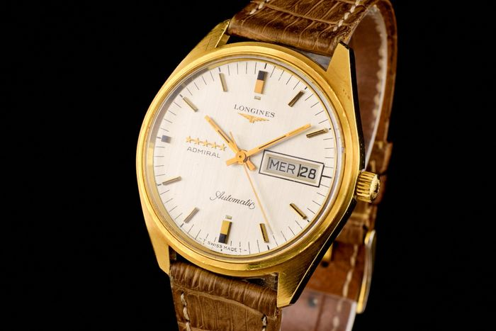 "Longines - Admiral 5 Stars 18K Gold Automatic - ""NO RESERVE PRICE"" - 8341 1 - Heren - 1970-1979"