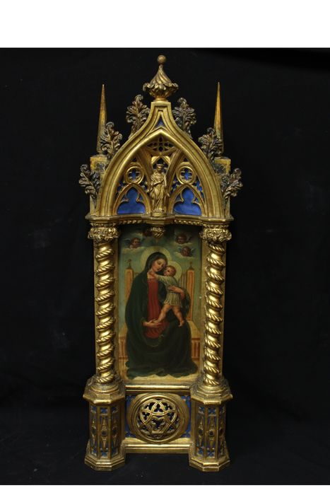 neo-gothic aedicule (1) - Gothic - Wood - Late 19th century