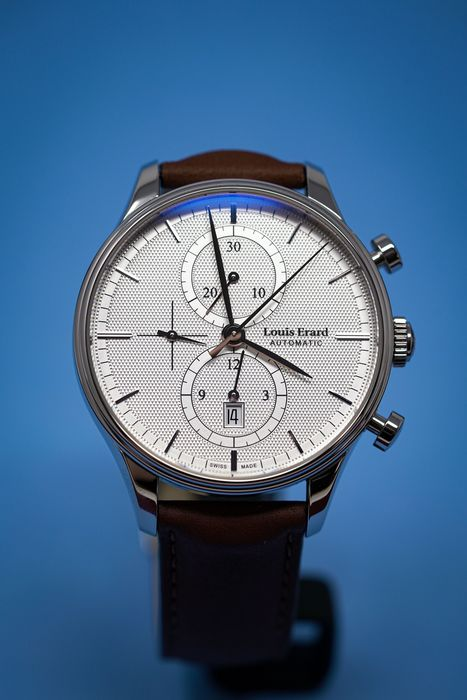 Louis Erard - Automatic Chronograph Heritage Classic Collection Brown Leather Strap Swiss - 78289AA21.BVA01 - Heren - Brand New