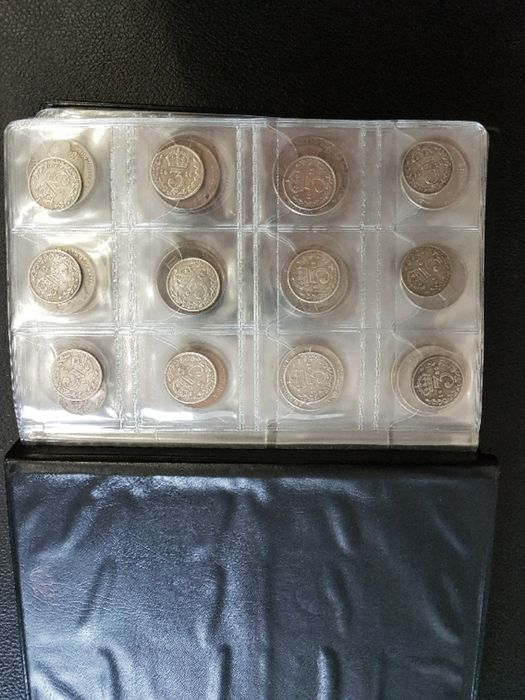 World - Lot various coins 1875/1970 (114 pieces) incl. silver
