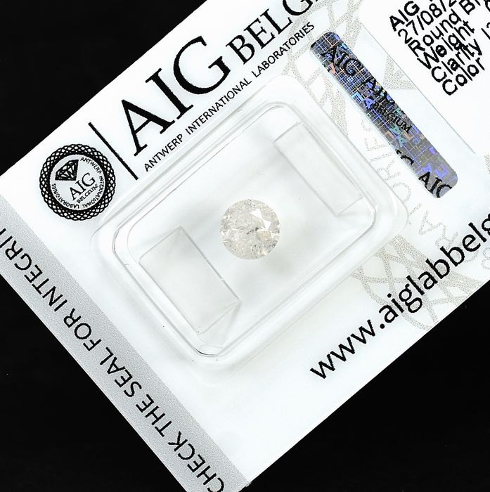 Diamant - 0.96 ct - Brillant - H - I3 - NO RESERVE PRICE
