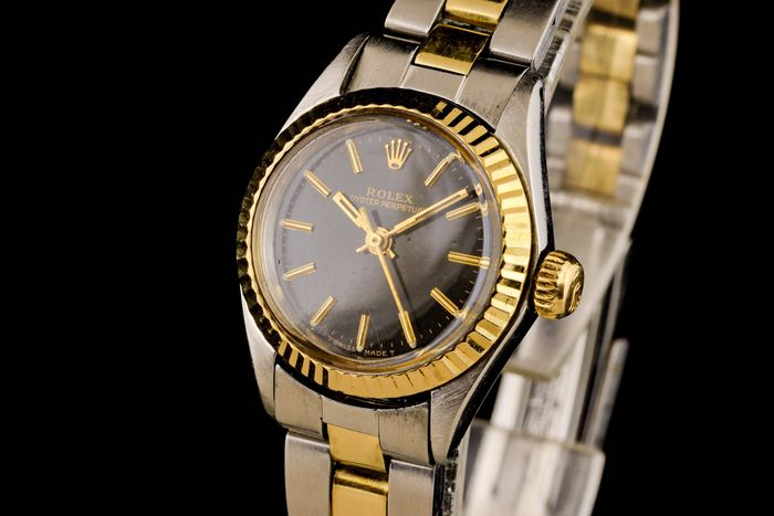 "Rolex - Lady Oyster Perpetual Gold/Steel Chronometer - ""NO RESERVE PRICE"" - 6804 - Dames - 1960-1969"