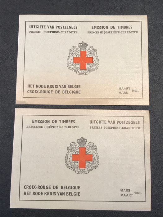 Belgium 1953 - Stamp booklets Princess Joséphine Charlotte - Complete and in new condition - OBP / COB 914A+B