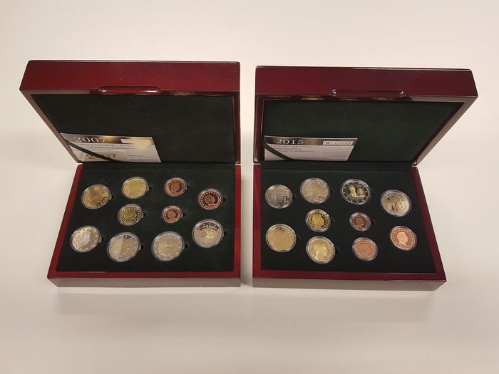 Luxembourg - Euro Proofsets 2007 & 2015