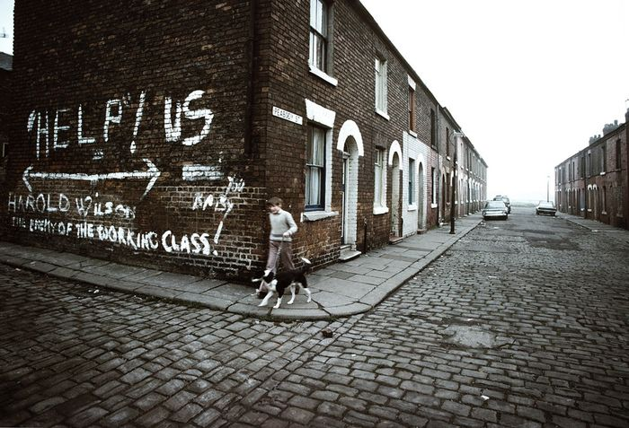 John Bulmer (1938-) - Manchester Manchester 166 slogan and boy
