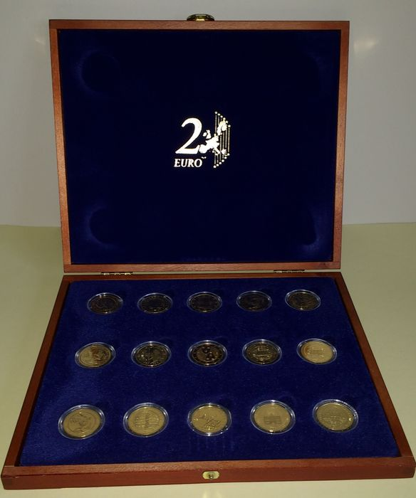 Europa - 2 Euro 2004 / 2007 gold plated (24 Ct) in exclusive box