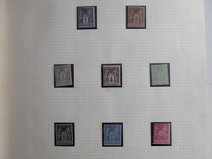 Francia 1924/1973 - Collection of semi-modern / modern stamps in a Thiaude album. - Yvert Entre n°83 et 1779