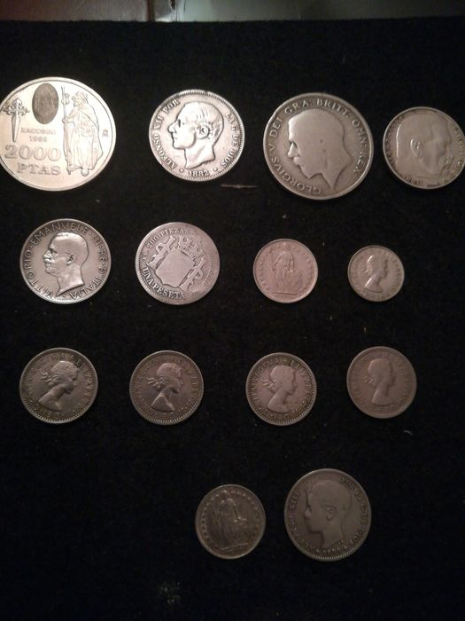 World - Lot various coins 1899/1999 (14 pieces) most silver
