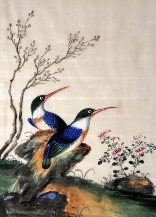 Rice paper painting (1) - Pith paper, Rice paper - China - 19th century