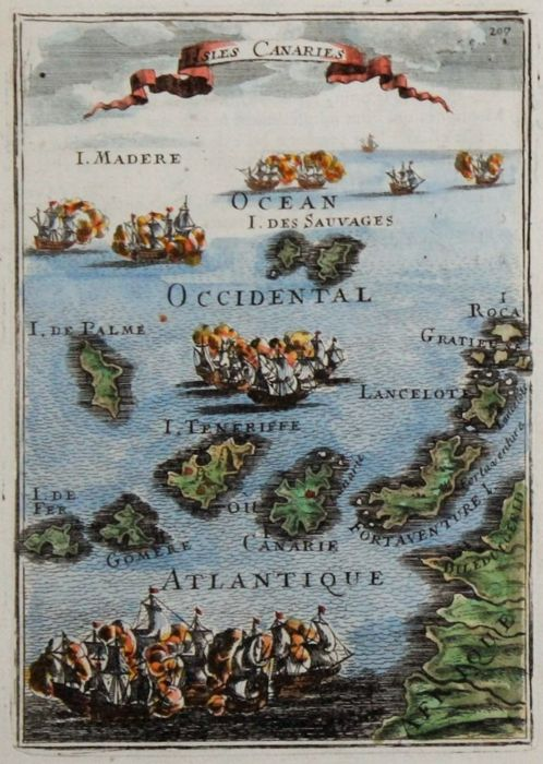 Spagna, Canary Islands; Mallet - Isles Canaries - 1681-1700