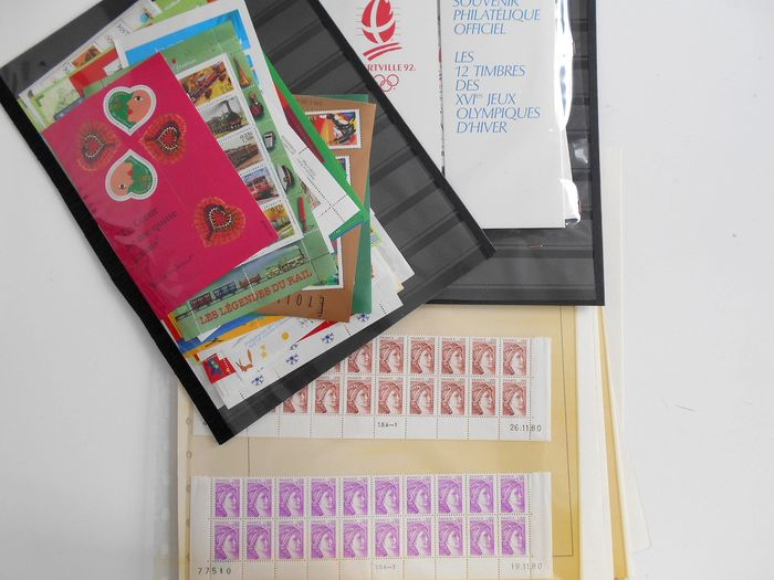 Francia 1980/1990 - Lot of Marianne blocks, wheels and booklets - Yvert