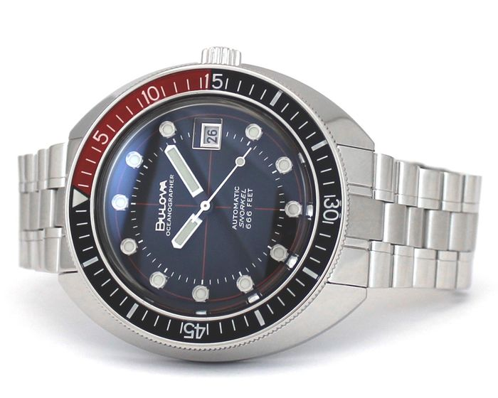 Bulova - Oceanographer 666 Devil Diver Automatico Black Red - 96B322 - Men - 2020