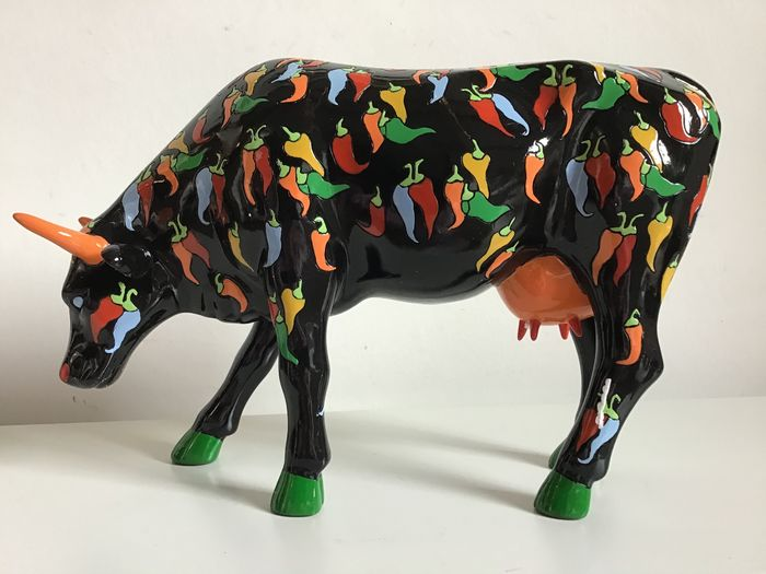 Christiane Corcelle-Lippeveld - Cow from the Cowparade series - Large (1) - Keramiek