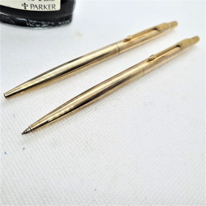 Parker - Jotter duo set - Ballpoint and propelling pencil - 12ct gold filled