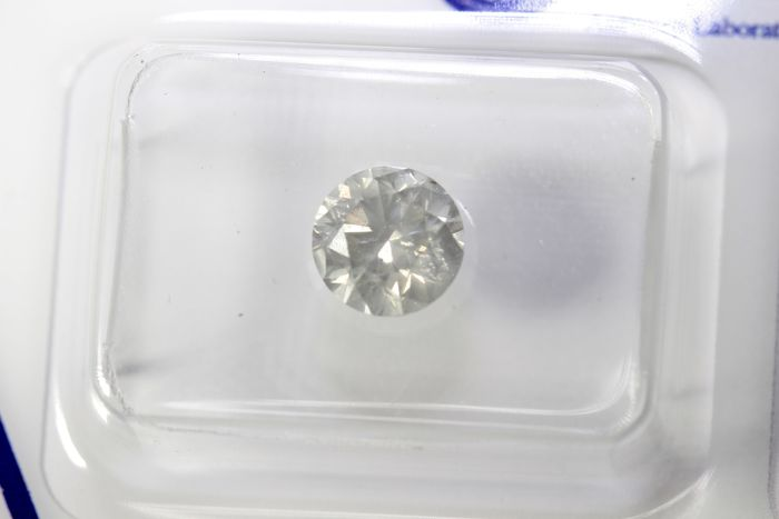 Diamond - 1.11 ct - Brilliant - L, Faint Grayish Yellow - I2 - * NO RESERVE PRICE *