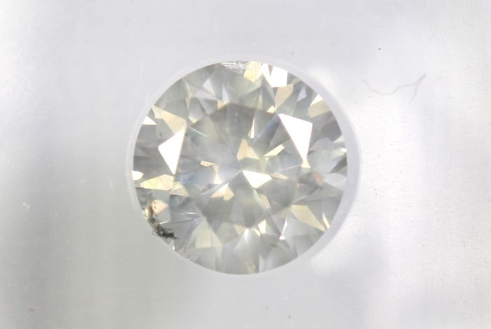 Diamante - 0.87 ct - Brillante - K - I2- * NO RESERVE PRICE *