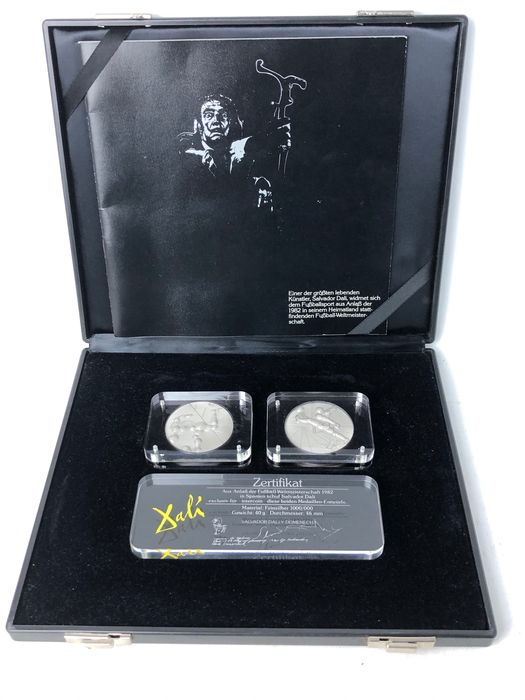 Germany - Medals 1982 Silver - Salvador Dali - Football World Cup - Silver