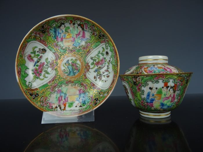Lid bowl and saucer - Porcelain - China - 19th century
