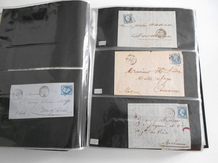 Francia 1854/1900 - Over 200 envelopes with classic postage, Ceres, Napoleon and Sage. - Yvert Depuis le n°14
