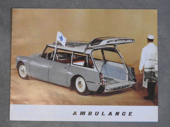Brochures / Catalogi - ID 19 - Routière et Ambulance - Citroën - 1950-1960