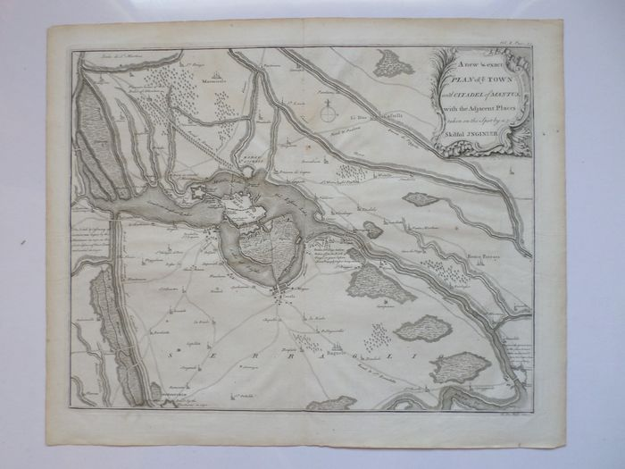 Italie, Lombardia, Mantova; Claude Du Bosc - A new and exact Plan of the town and citadel of Mantua (...). - 1721-1750