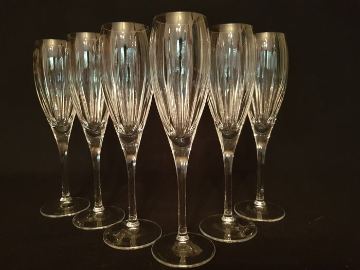 Wedgwood - Champagne glazen, Model Windsor gesingneerd (6) - Kristal
