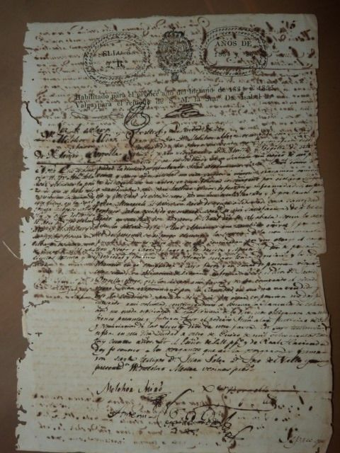 manuscript - document purchase sale of a slave 1834 from Cuba - 1834