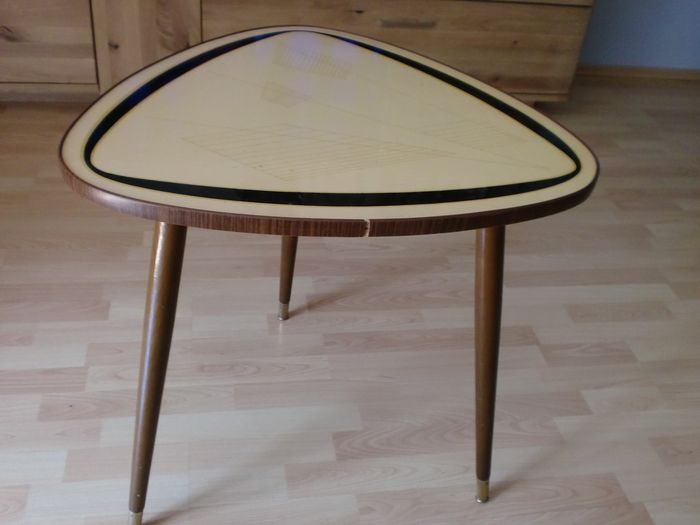 Kidney table 50s tripod table coffee table