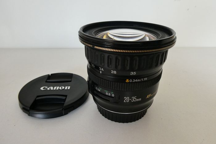 Canon 20-35 mm AF ULTRASONIC LENS (3,5-4,5) voor Canon FULL SIZE DSLR camera's origineel