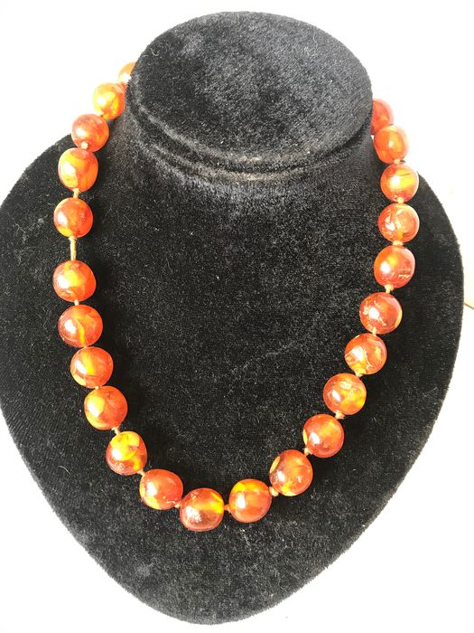 14 carats Ambre, Or - Collier