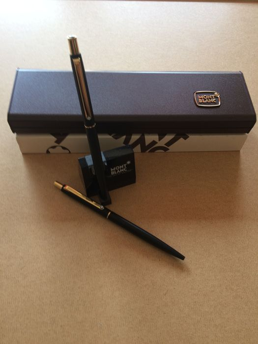 Montblanc - montblanc ballpoint pen and mechanical pencil with box and stand - Set of 4