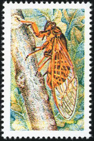 "Frankreich - ""Cigale"" (Cicadidae) Omitted inscriptions - very lovely and rare. - Yvert 1946b"