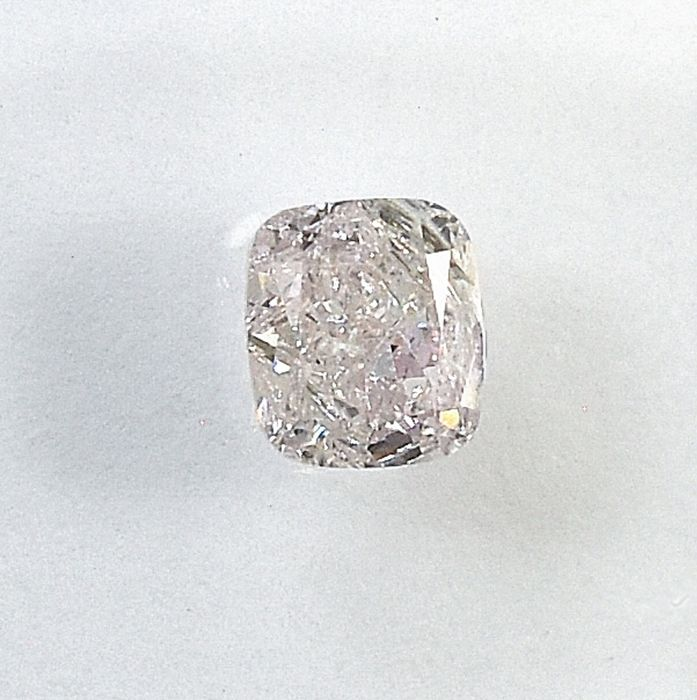 Diamant - 0.33 ct - Coussin - Light Pink - I2