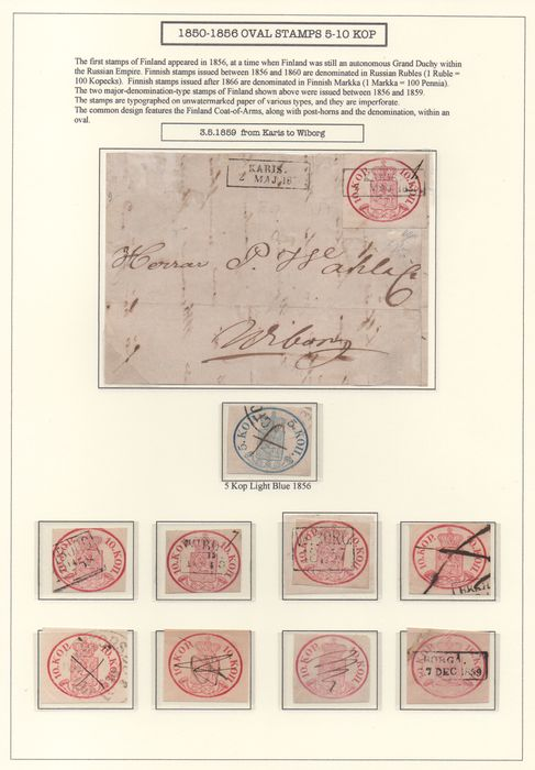 Finnland - Pages from Exhibition Collection 1850-1856